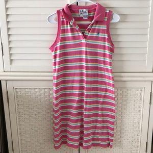 Lilly Pulitzer polo dress sleeveless small pink